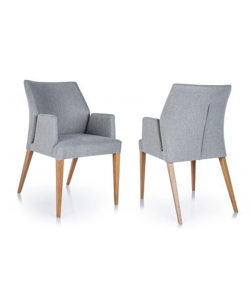 Krzesło tapicerowane Aldo z podłokietnikiem